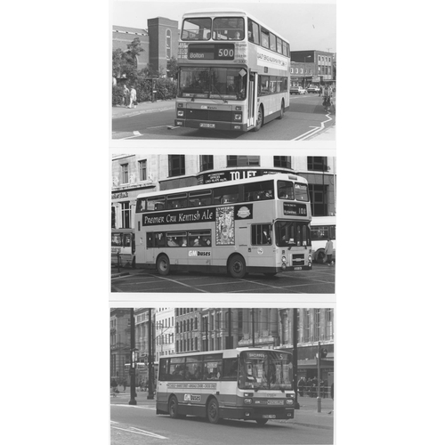 47 - U.K.Bus, Black & White ( a few colour noted) postcard size prints, approx. 200. A good record of bus...