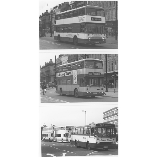 48 - U.K.Bus, Black & White ( a few colour noted) postcard size prints, approx. 200. A good record of bus...