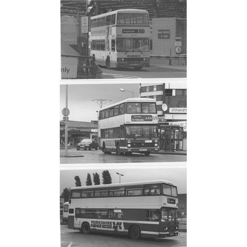 50 - U.K.Bus, Black & White ( a few colour noted) postcard size prints, approx. 200. A good record of bus...