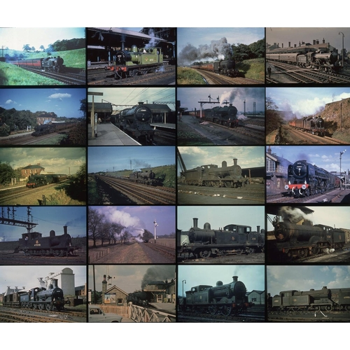 52 - Railway colour slides, 35mm approx. 170. A good quality selection of BR (E)  Steam from the Colour R...