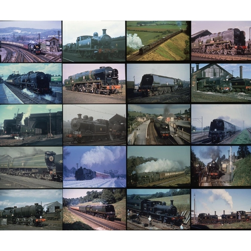 53 - Railway colour slides, 35mm approx. 216. A good quality selection of BR (S)  Steam from the Colour R...
