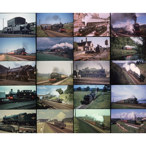 54 - Railway colour slides, 35mm approx. 216. A good quality selection of BR (W)  Steam from the Colour R...
