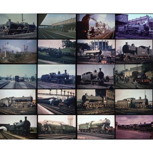 55 - Railway colour slides, 35mm approx. 151. A good quality selection of SR (24), GWR (42), NER (85) Ste...