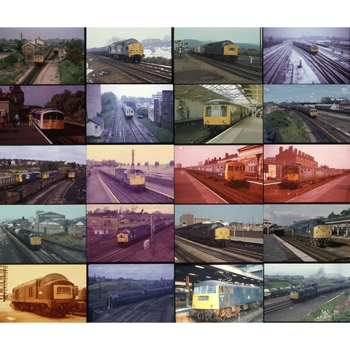 57 - Railway colour slides, 35mm approx 42. A modern traction mix from the 1960`s onwards. Mainly taken i...