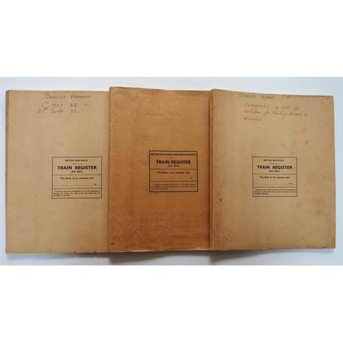 58 - Paper railwayana. Three train registers from DAWLISH WARREN signalbox, first one dated 12th May 1982...