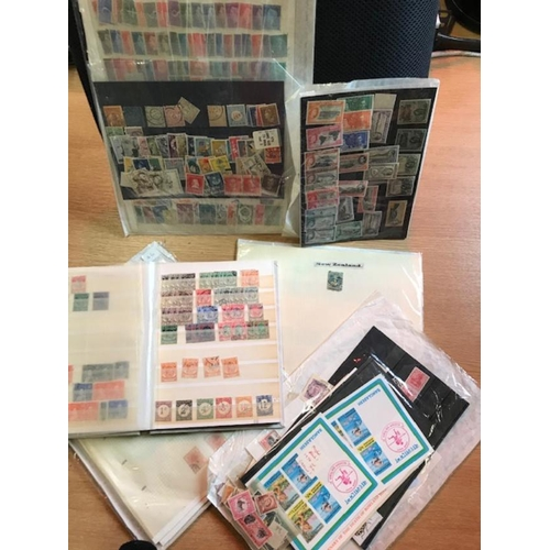 12 - Box of British Commonwealth (plus a little world), includes white stock-book of Malay, mainly Strait...