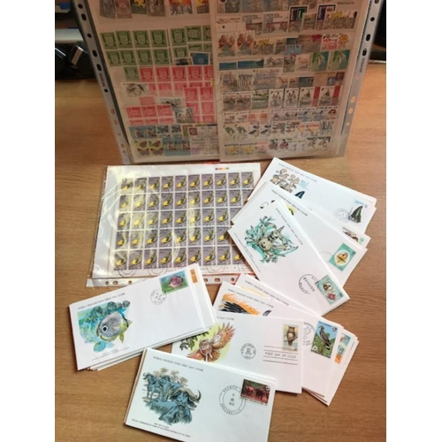 22 - Box of British Commonwealth, with general BCW on stockcards plus bags of loose, plus a lot of covers...