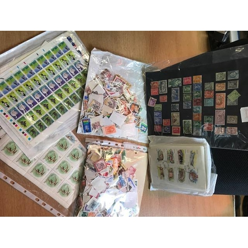 28 - World large quantity stamps & some covers; we note good German mint & Hitler period used cats £1000 ...