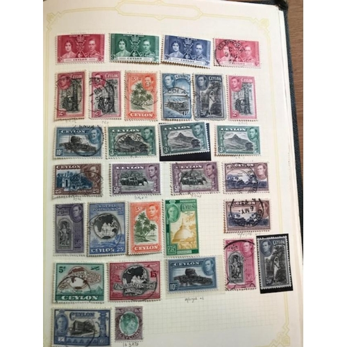 4 - British Commonwealth - George Sixth Collection in green album, includes postcards, covers (some bett...