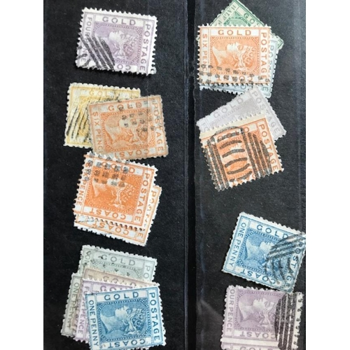 55 - British Commonwealth Forgeries of Gold Coast (17) all forgeries of first sideface QV stamps (17); ve...