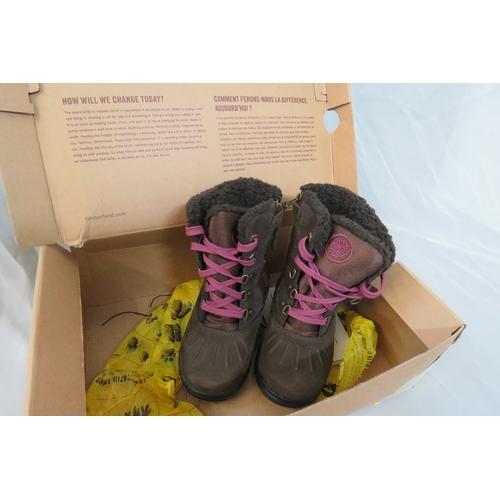 7 - Brand New Timberland Toddler Mallard Tall Brown Boots - UK 10.5/EU 28 RRP £60...
