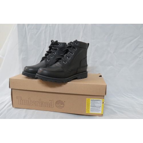 9 - Brand New Timberland Aspalt Zip Black Leather Boots - Size UK12/12.5 / EU30.5 RRP £55...