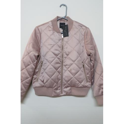 25 - Ladies New Look Petite Diamond Quilt Bomb Jacket -Size UK 12...