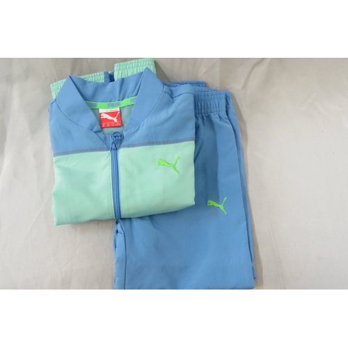 26 - Brand New Kids Unisex Puma Blue and Green Tracksuit - Size 24/30 months...