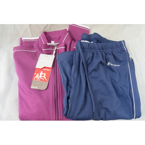 32 - Brand New Ladies Champion Authentic Athletic Purple & Blue Tracksuit - Size M...