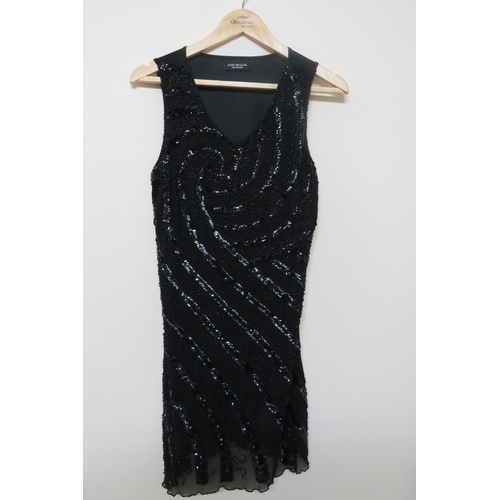 42 - Ladies Sparkly Black Dress by Kurt Muller - Size 8-10...