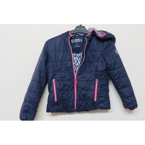 52 - Michael Kors Girls Navy Blue Jacket Age 7-8...