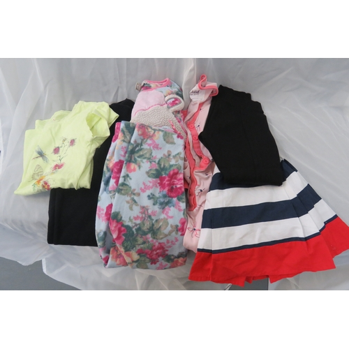 59 - Job Lot - 6 X Various items of girls clothing from Monsoon, John Lewis and Next. Ages 5-6, 7, 7-8...