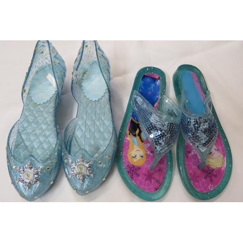 69 - 2 x pairs of DisneyStore Frozen Shoes Size UK 13...