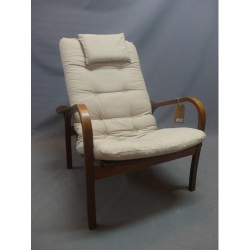 311 - A mid 20th century Yngve Ekström teak armchair for Swedese...