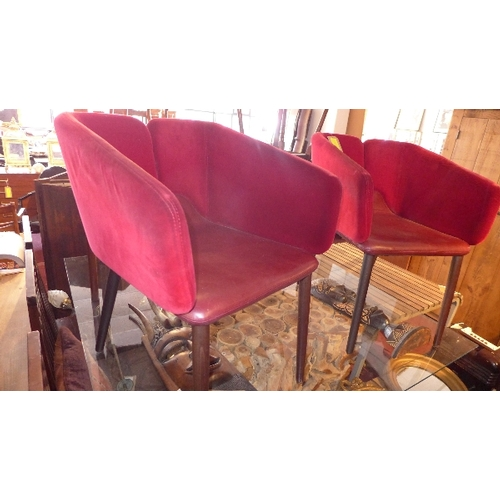 329 - A pair of red Mixx chairs designed by Matthias Demacker...