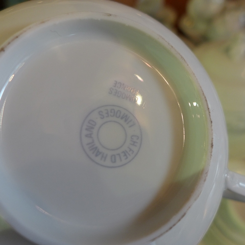 A Limoges porcelain dinner service, Imperatrice pattern