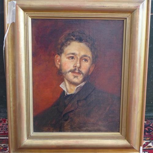 140 - Robert Little (19th Century British School), 'Portrait of Robert Weir Allan', oil on canvas, H.30cm ...
