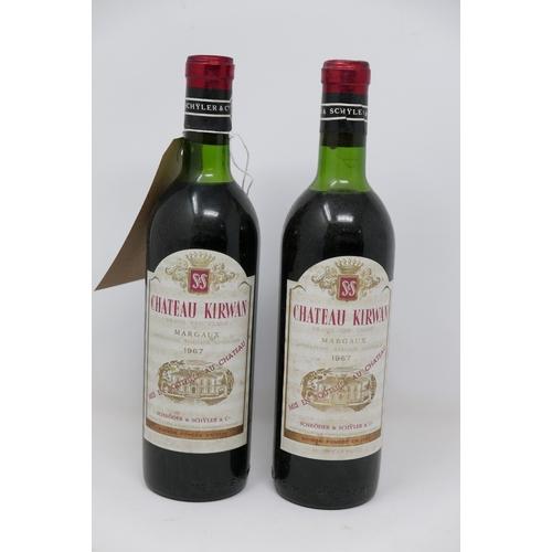 2033 - Château Kirwan, 1967, Grand Cru Classé, Margaux, 2 bottles...