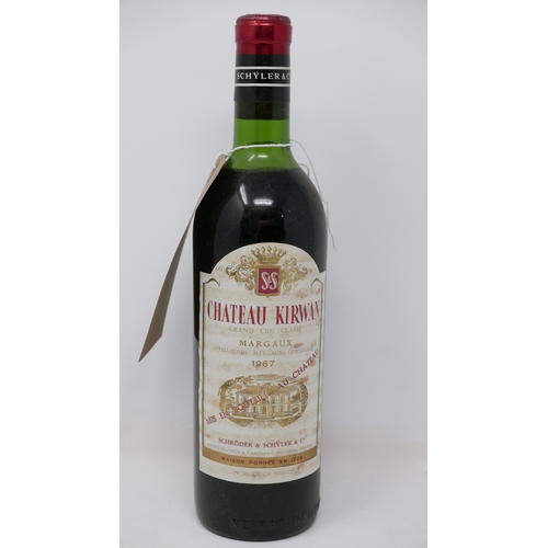 2037 - Château Kirwan, 1967, Grand Cru Classé, Margaux, 1 bottle...