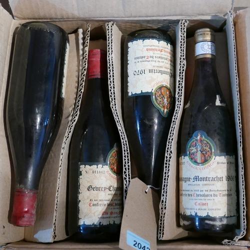 2042 - Mixed Tastevinage, including Gevrey-Chambertin, 1970, 3 bottles; Chassagne-Montrachet, 1966, 4 bottl...