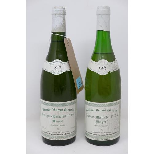 2054 - Chassagne-Montrachet, 1985 and 1987, Domaine Vincent Girardin, 'Morgeot', 2 bottles total, 75cl...