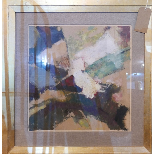 27 - Robert Fontene, an abstract acrylic on paper, signed, 50x49cm...