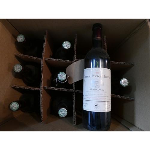2019 - Mixed Château Pontet-Chappaz, 1989 & 1990, Margaux, 8 bottles, 75cl...