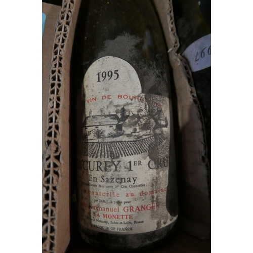2045 - Mixed 12 bottles; including Château de Davenay, 1995, Rully 1er Cru, 1 bottle...