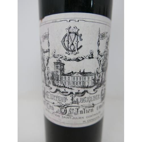 2031 - Château Lagrange, 1966, Grand Cru, St Julien, 6 bottles...