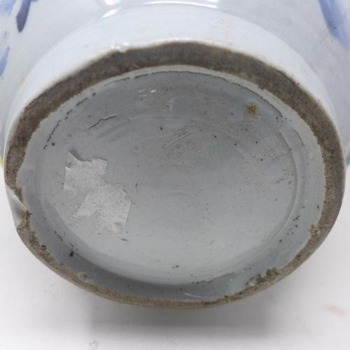 55 - A Korean bulbous form blue and white vase, H.37cm...