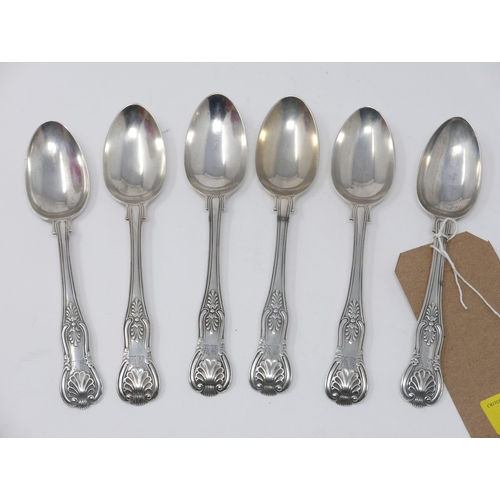 2 - Two William IV Kings pattern silver spoons, William Eaton, London 1835, together with four Victorian...