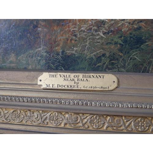 51 - Mark Edwin Dockree (British, 1858-1890), 'The Vale of Hirnant, near Bala', 1880, oil on canvas, sign...