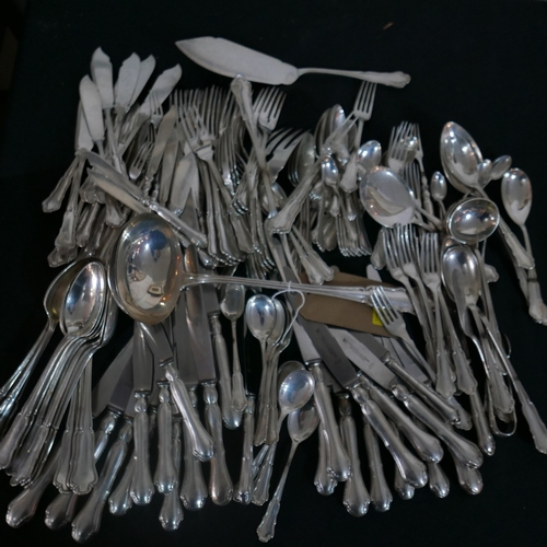 1 - An extensive collection of G.A.Scheel German silver cutlery, stamped 800, solid weight 191oz...