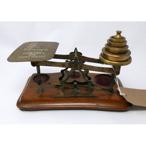 4 - A set of early 20th century postal letter scales...