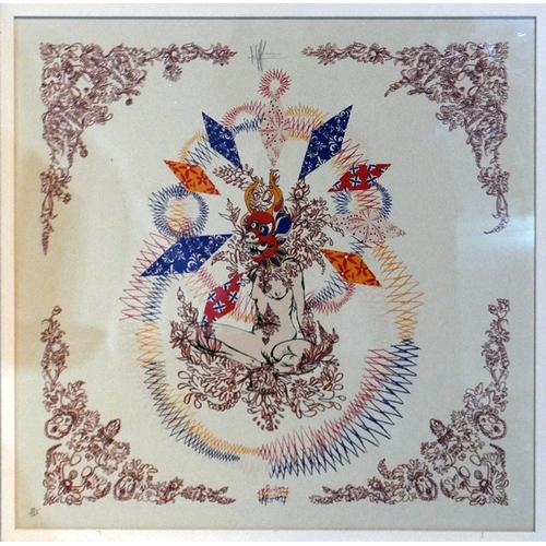 232 - Kelsey Brookes (b.1978), street artist, a limited edition screen print 89/120, 'Thai Terror II', sig...