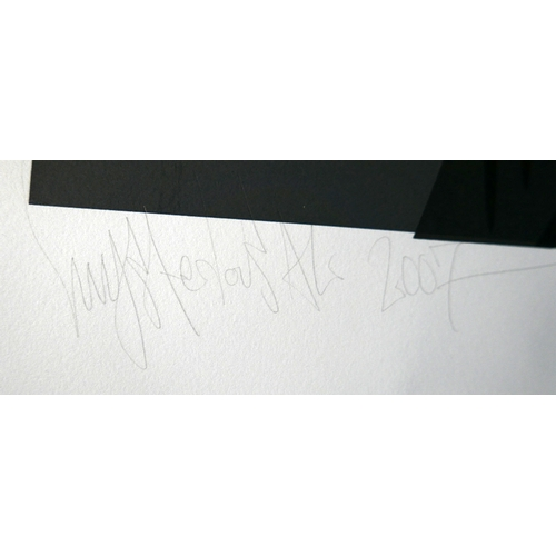 234 - Mysterious Al, street artist, limited edition screen print 17/25, signed and dated 2007, with stolen...