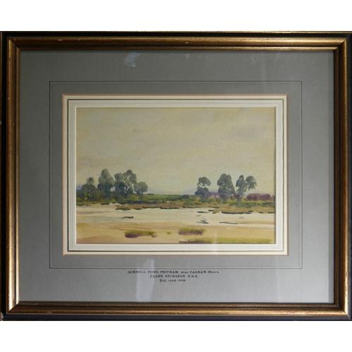 77 - Frank Richards R.B.A. (British, Exh. 1883-1925), 'Ocknell Pond, Fritham, near Cadnam, Hants', waterc...