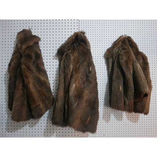 117 - Three vintage fur capes...
