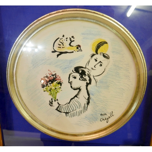 188 - Daniele Ermes Donde, After Marc Chagall, 'Fulso D'Autore Bay', ceramic dish, signed to verso, in cir...