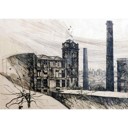338 - Alex Corina (British, b.1950), 'Mill, Milmesbridge', pen and ink on paper, signed and dated '78 to l...