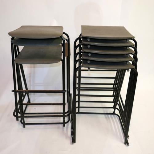 343 - Nine 20th century stools by ESA, H.66cm (9)...