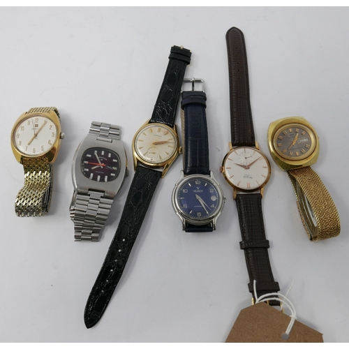367 - A collection of six various gentleman's wristwatches...