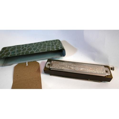 373 - A super chromonica chromatic hohner harmonica...