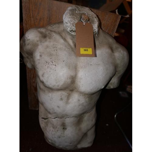 385 - A Classical style composite male torso, H.68cm...